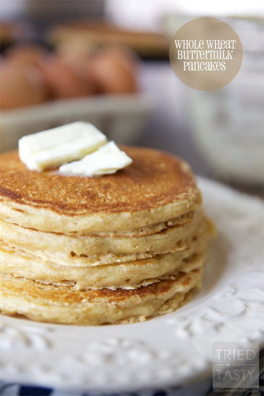 Whole Wheat Buttermilk Pancakes // Tried and Tasty