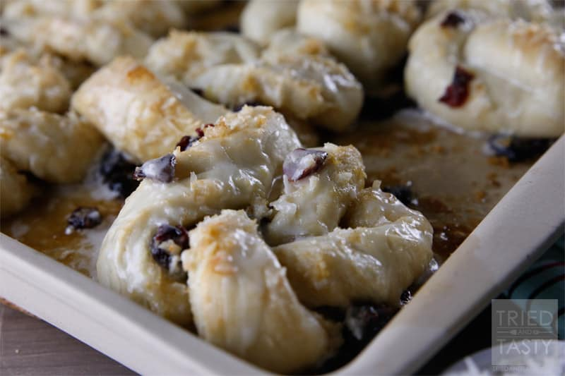 Switch things up this year for your holiday breakfast or brunch and add these delicious Coconut Cranberry Citrus Twists to the menu! Rhodes takes the hard work out of it, all you're left to do is add the yummy filling, twist, bake, & go!