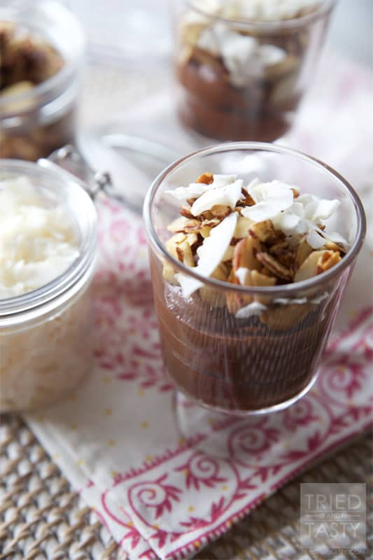 Almond Joy Chocolate Buttercream Parfait // Tried and Tasty