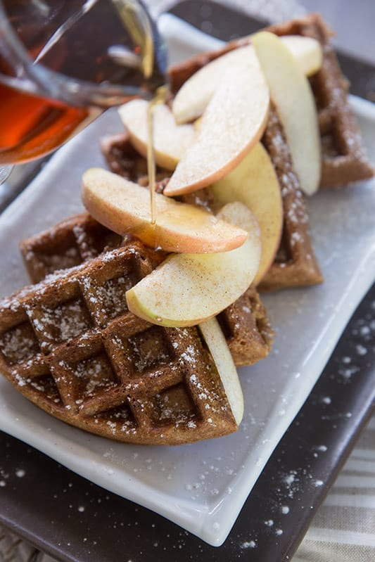 Whole Wheat Apple Cinnamon Waffles // Tried and Tasty for Blendtec