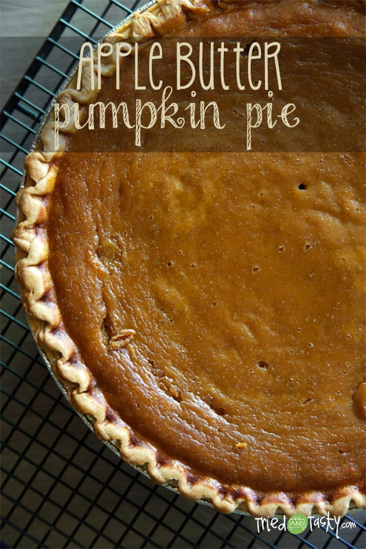 Apple Butter Pumpkin Pie // Tried and Tasty