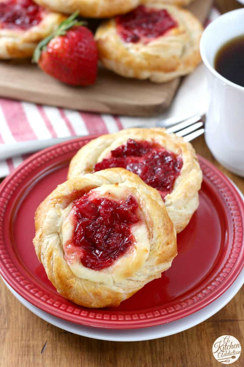 Stawberries and Cream Danishes