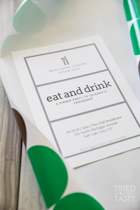 Dinner Party Guest Invite: How To // Want a fun way to invite your guests to your next dinner party? You won't believe how easy it can be. With only a few simple supplies you'll have a modern yet classy invitation in no time at all!   Tried and Tasty