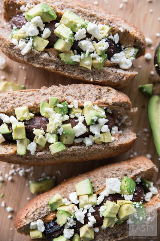 Southwestern Bratwursts // Want a zesty new fun twist on a traditional grilled brat? These Southwestern Bratwursts have the kick of a chipotle mayo but the smooth creamy addition of fresh avocado and sprinkled with a bit of cheese to balance it all. Perfect for your grilling all summer long!   Tried and Tasty