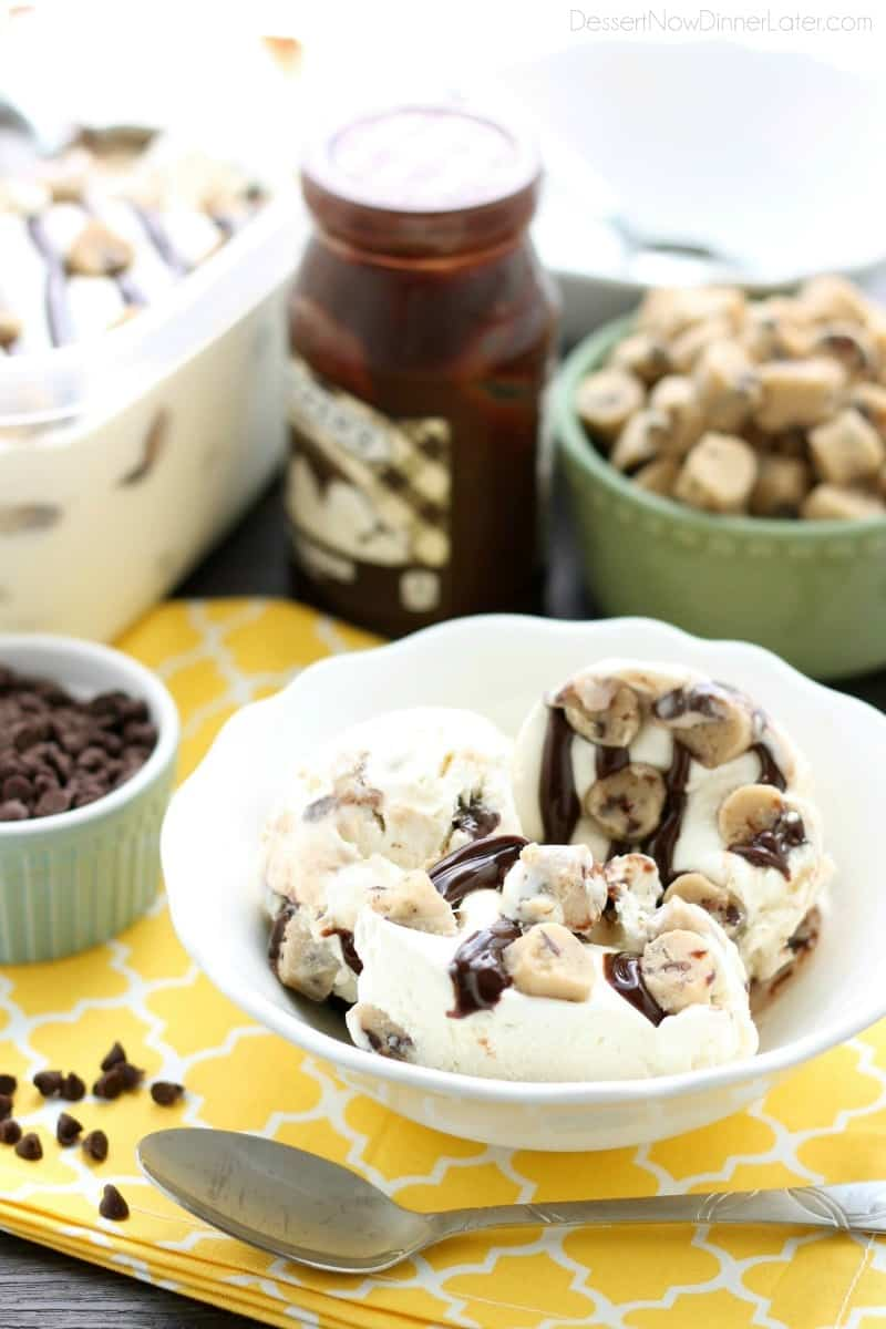 No Churn Chocolate Chip Cookie Dough Ice Cream WM