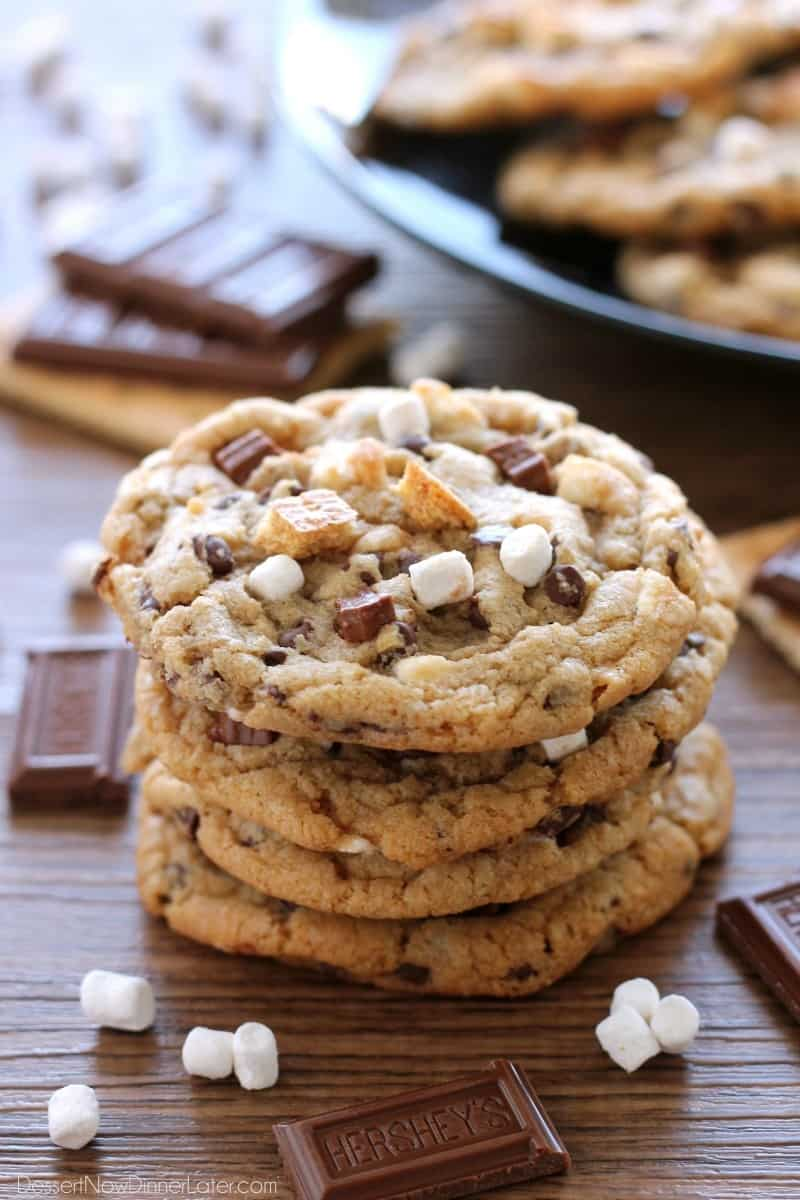 S'mores Cookies // Dessert Now Dinner Later