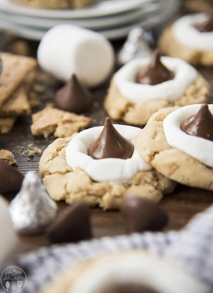Hershey Kiss S'mores Cookies // Like Mother Like Daughter