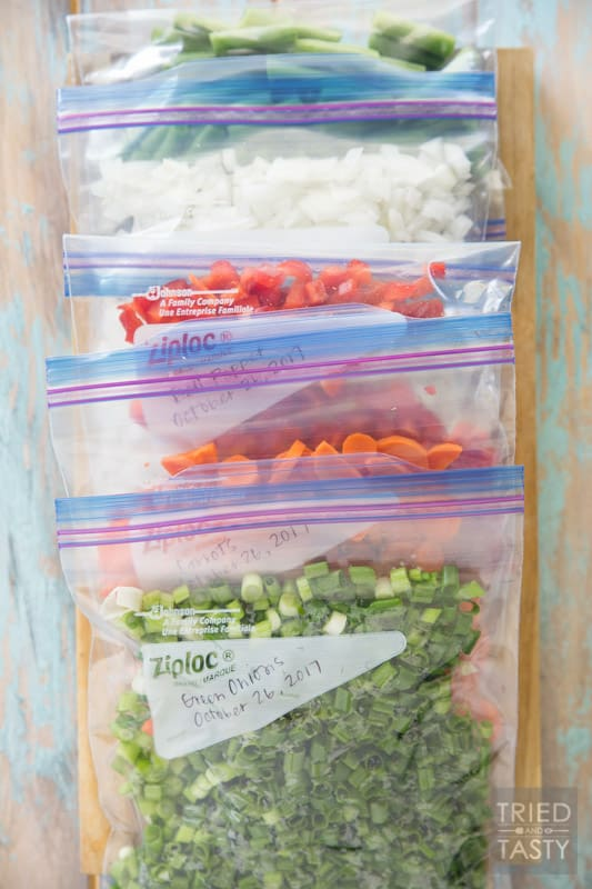 How To Freeze Veggies // Don't let those extra veggies (or ones you've forgotten about in your fridge) go to waste. Freeze them and they'll be handy the next time you need them! | Tried and Tasty