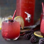 Blackberry Vanilla Lemon Spritzer | This refreshing and delicious spritzer is fizzy, tart, and sweet all at once! | Tried and Tasty