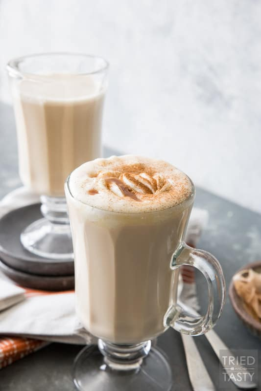 Caramel Chai Tea Latte // Move over Pumpkin Spice Latte, there's a new Latte that's sure to win you over! Chai Tea has been elevated in the delicious warm spiced drink that will satisfy every taste bud! | Tried and Tasty