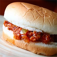 Sloppy Joe Sandwich on a plate